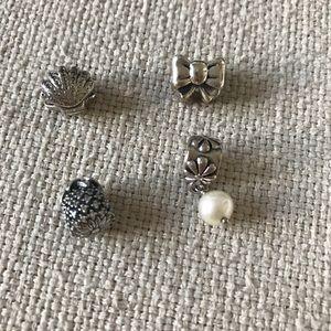 Pandora charms shell pineapple bow pearl